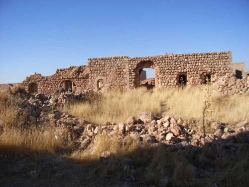 Blick auf die Kirche im alten Kafro