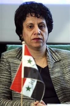 Die assyrische Ministerin der irakischen Übergangsregierung im Jahr 2005, Frau Basima Potrus