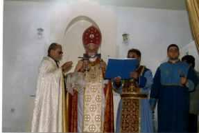 Segnung der armenischen Kirche im Jahr 2001