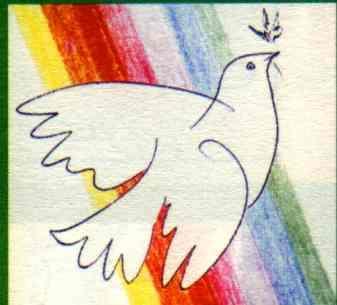 Taube u. Regenbogen - alte biblische Friedenssymbole