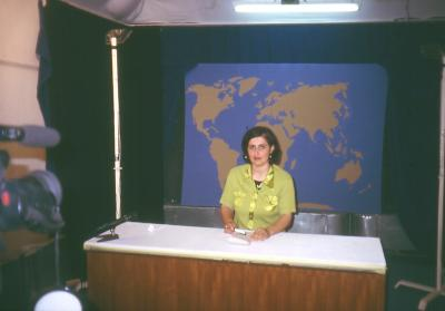 Nachrichten Sprecherin beim Assyrischen Fernsehen in Erbil
