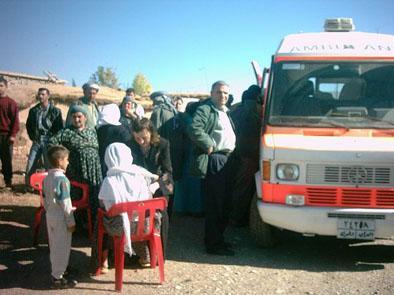 Die mobile Klinik im Einsatz