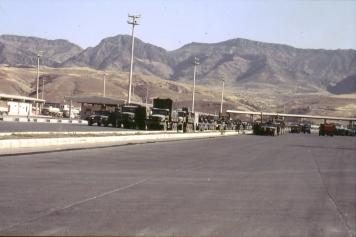 Nach dem 2. Golfkrieg 1991 an der Grenze Türkei-Irak