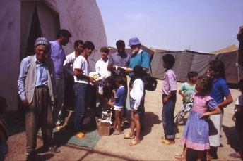 Flüchtlingslager an der irakischen Grenze 1991 - auf türkischer Seite