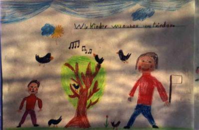 Wunsch der Kinder aus Bad Schussenried an die Kinder von Erbil