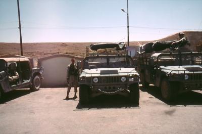 amerikanische Soldaten in Moslu im Jahr 2003