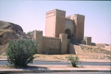 Eines der übrig gebliebenen Nineveh Tore in Mosul