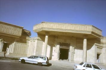 Dritter Palast von Saddam in Mosul, zerstört von den Amerikanern im April 2003