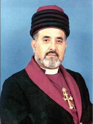 Mar Dinkha IV., der Patriarch der Kirche des Ostens, Chicago
