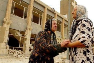 Zerstörte Kirche in Bagdad Oktober 2004