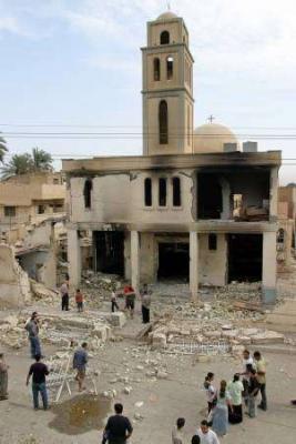 Zerstörte Kirche in Bagdad 2004