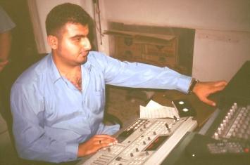 Techniker vom assyrischen Fernsehen in Erbil