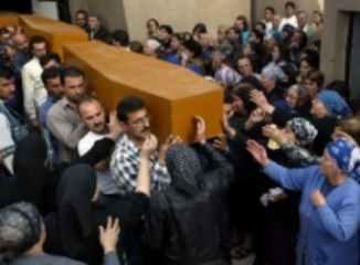 Beerdigung ihrer Lieben