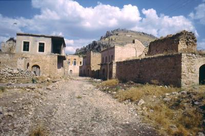 Leere Häuser in dem einst schönen Killit