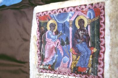Ein Adventsbild aus dem Evangeliar aus dem 13. Jhd. n.Chr.