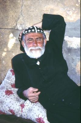 Abuna Yacob in Salah in der Mittagspause