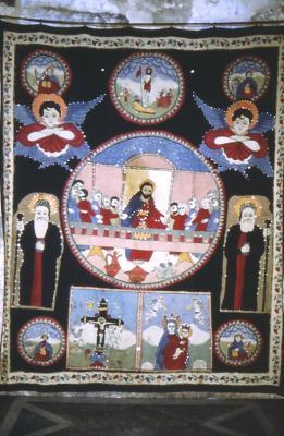 Altar Vorhang im Kloster Mar Melki