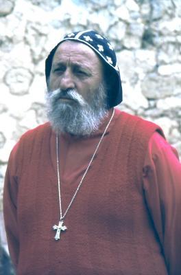 Der Vorgänger Bischof im Tur Abdin, Bischof Gabriel - im Jahr 1984