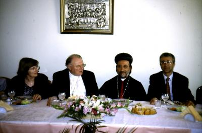 Der Ratsvorsitzende bei Bischof Filoxenos Cettin in Istanbul - Mai 2001