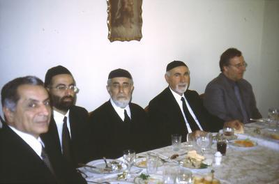 Gemeinsames Essen beim Bischof in Istanbul