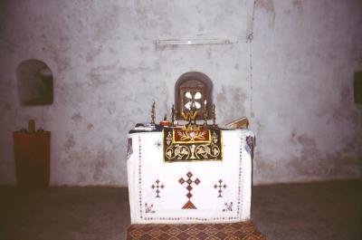Altar in der Kirche von Mar Melki