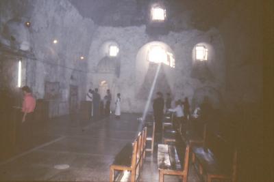 Gottesdienstraum im Kloster Mar Gabriel - im Jahr 1995