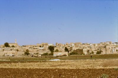 Blick auf Mydiat, die Bischofsstadt vom Tur Abdin - im Jahr 1984