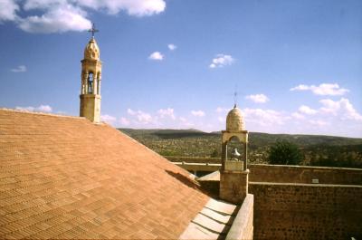 Die Klosterkirche in Mar Gabriel im Jahr 1995