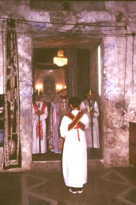 Eucharistie Feier in Mar Gabriel - im Jahr 1995