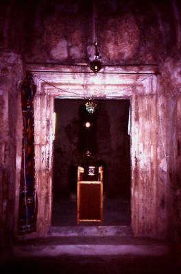 Blick zum Altarraum - im Jahr 1995